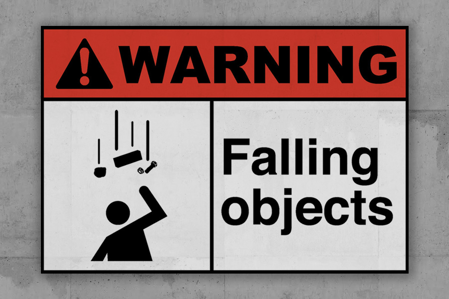 Dropped Object Prevention and Falling Objects Sign